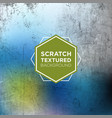 winter frost grunge background in scratched vector image