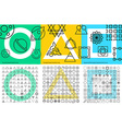 XXL set of abstract geometric linear icons for vector image
