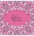 Hand drawn pink abstract background vector image