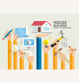 House Building Service and Maintenance vector image