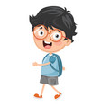 kid going to school vector image