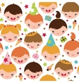 Kids at a birthday party seamless pattern vector image