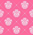 vintage pattern baroque style in pink color vector image