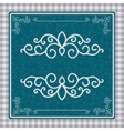 Vintage postcard with a beautiful pattern vector image