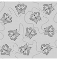 black lace seamless pattern with butterflies vector image vector image