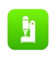blacksmith automatic hammer icon digital green vector image vector image