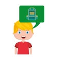 boy character student with school supplies vector image vector image