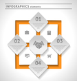 Business infographics elements vector image