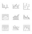 business stand icons set outline style vector image