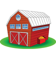 Cartoon barn vector image