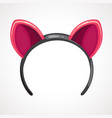 cartoon hoop with pink ears vector image vector image