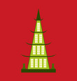 chinese restaurant building flat icon vector image vector image