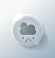 cloud rain with sun the weather icon vector image