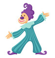 clown funny circus cartoon icon vector image vector image