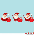 Collection of Christmas Santa Claus vector image