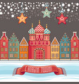 colorful greeting card for holidays in russia vector image vector image