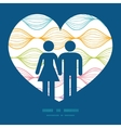 colorful horizontal ogee couple in love vector image vector image