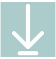 down arrow or load symbol the white color icon vector image