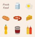 everyday goods and food products and to buy at vector image