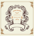 frame floral retro design victorian style vector image vector image