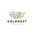 gold nest logo icon vector image