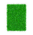 green grass background 3d isolated on white lawn vector image vector image