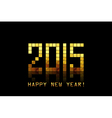 Happy New Year 2015 - with golden numbers vector image vector image
