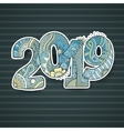 Happy New Year 2016 celebration number vector image vector image