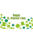 happy st patricks day leprechaun hat and green vector image vector image