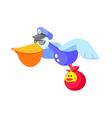 icon pelican vector image vector image