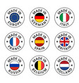 icon set made in germany france italy vector image vector image