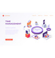 landing page for time management vector image vector image