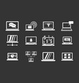 laptop icon set grey vector image