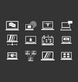 laptop icon set grey vector image vector image