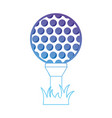 line ball object to play golf vector image vector image