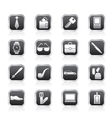 man accessories icons and objects vector image vector image