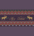 merry christmas winter knitted woolen pattern vector image