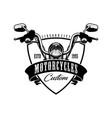 motorcycle logo vector image vector image