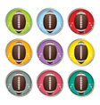 Multicolored American Football Emblems vector image vector image