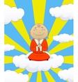 on cartoon asian monk vector image vector image