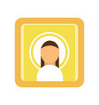 painted icon of saint man religious work of art vector image vector image