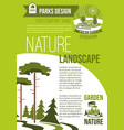 poster of green nature landscaping company vector image vector image