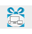 present with modern devices vector image vector image
