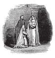 presentation jesus at temple - encounter vector image vector image