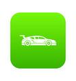 rally racing car icon digital green vector image