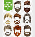 realistic hairstyle set vector image vector image