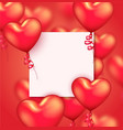 realistic valentines day design or wedding vector image