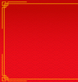 red chinese background with yellow gold border vector image vector image
