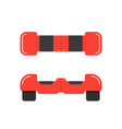 red hoverboard front and top view vector image