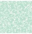 sea green swirly braches seamless pattern vector image vector image